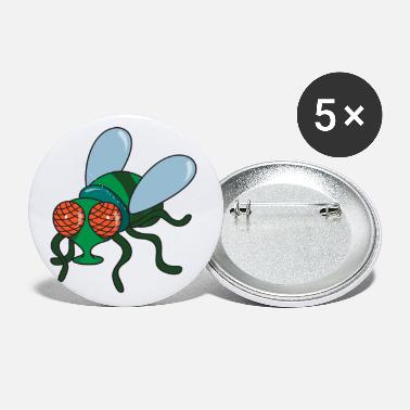Fly Cute Funny Cool Fly Insects - Small Buttons
