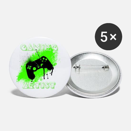 Love Buttons - Gaming Artist - Small Buttons white
