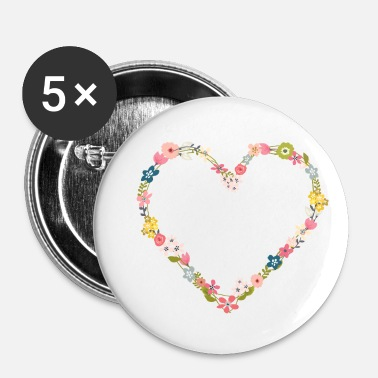 Flower Power flower_power_heart - Small Buttons