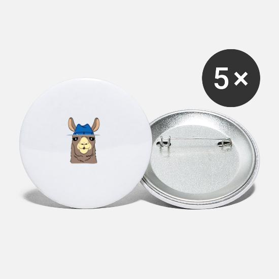 Drama Buttons - Alpaca Shirt With A Cute Illustration Of Alpaca - Small Buttons white