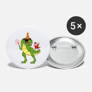 Cheer Dinosaur Year Of The Rat Happy New Year 2020 - Small Buttons