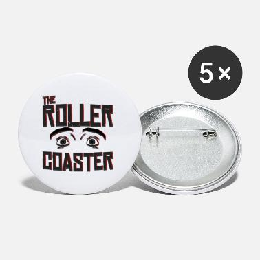 Image Roller coaster carnival fair adrenalin fun gift - Small Buttons