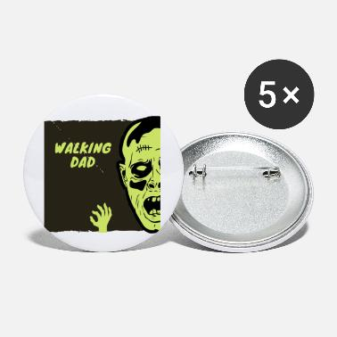 Greenpeace WALKING DAD Zombie green - Small Buttons