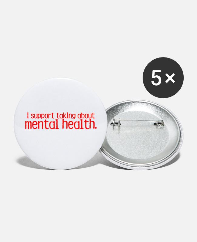Mental Buttons & Pins - End The Stigma Merch - Small Buttons white