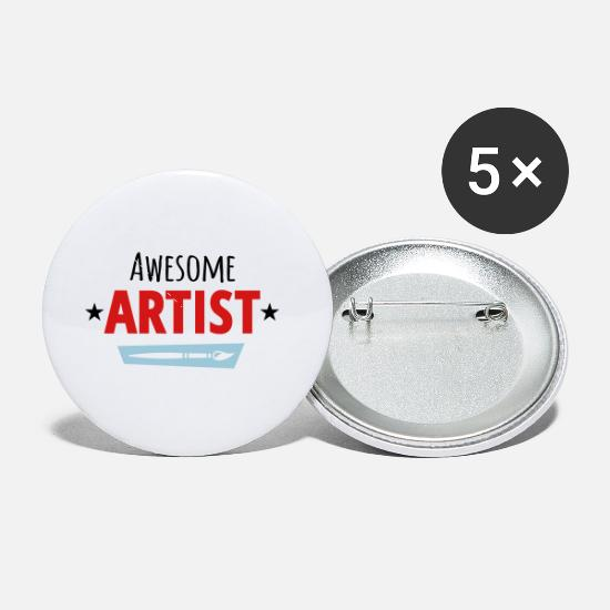 Artist Buttons - Awesome Artist - Small Buttons white