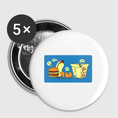 Funny food joke - Small Buttons