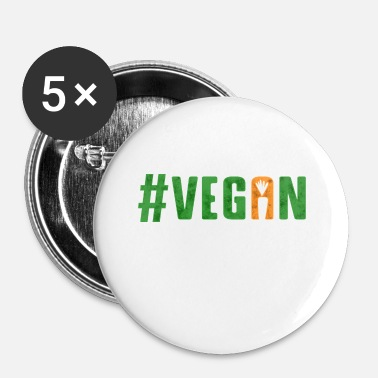 Vegan Vegan #vegan Veganism vegetables - Small Buttons