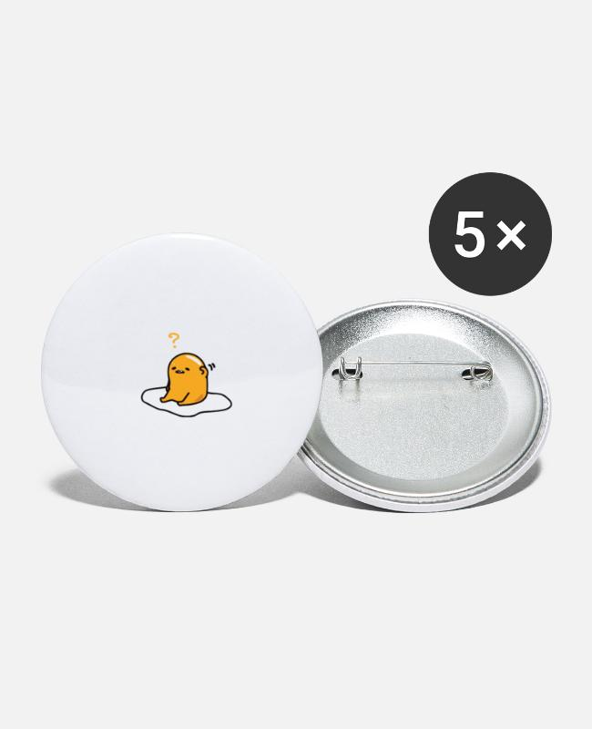 Eggshell Buttons & Pins - egg - Small Buttons white