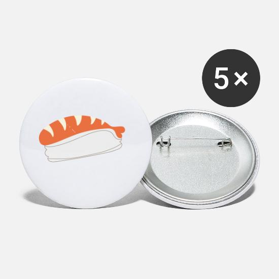 Shrimp Buttons - Sushi - Small Buttons white