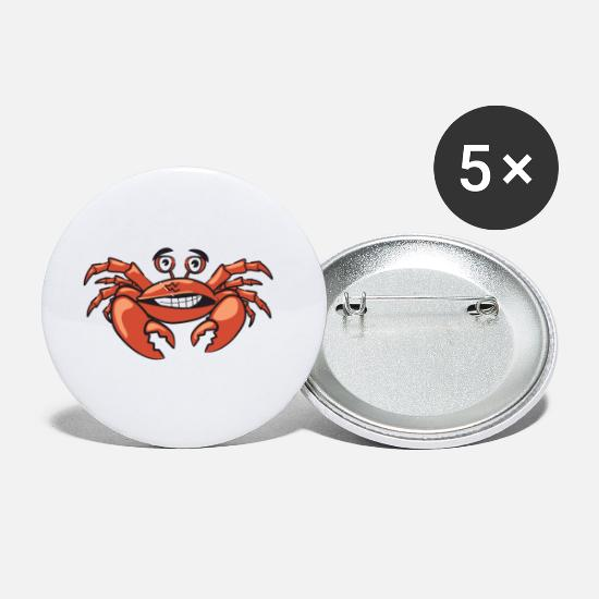 Crab Buttons - crab - Small Buttons white