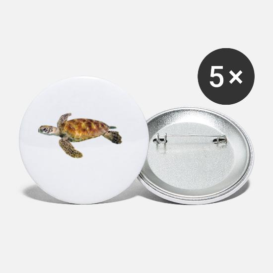 Seafood Buttons - Turtle - Small Buttons white