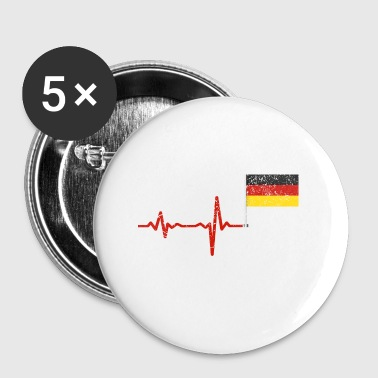 Heartbeat Germany flag gift - Small Buttons