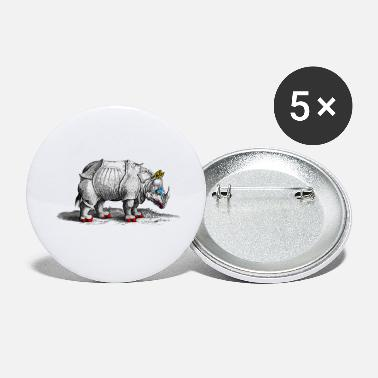 Vintage Rhino in Drag - Small Buttons