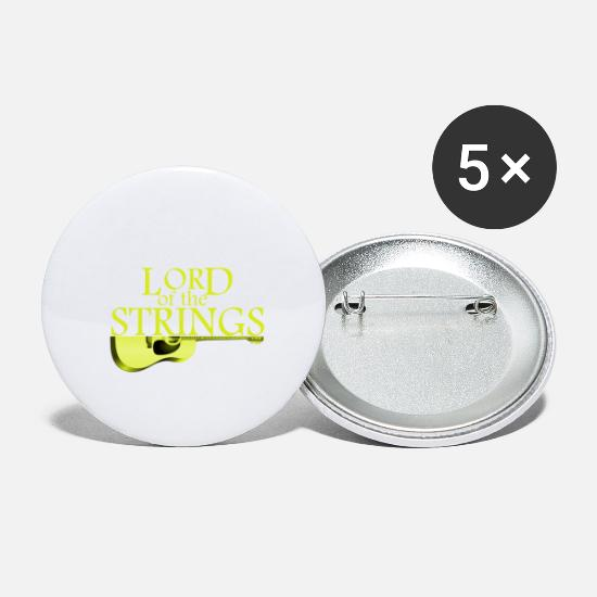 Guitar Buttons - Lord of the Strings - Guitar - Music - Gift idea - Small Buttons white