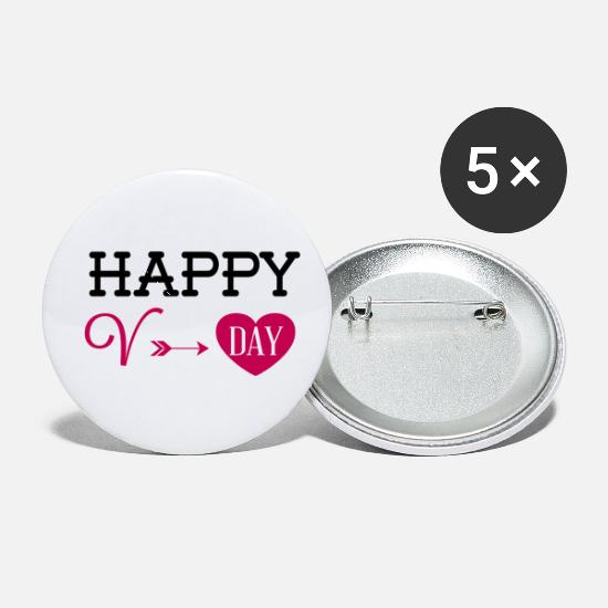 Love Buttons - Valentines Day - Small Buttons white