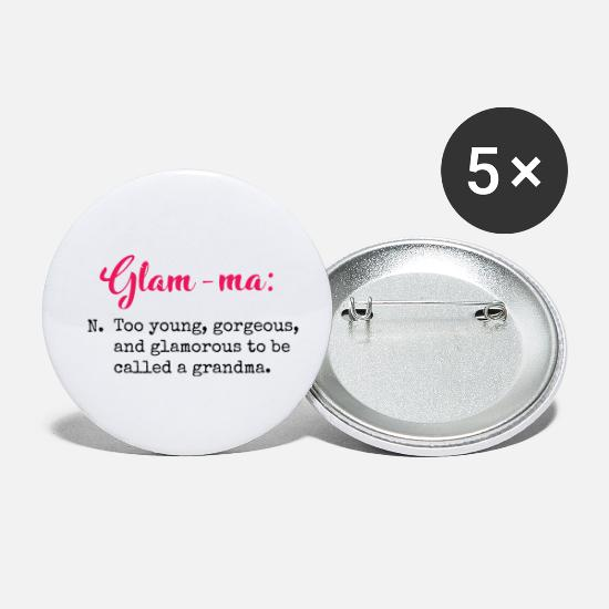 Gift Idea Buttons - Glam-ma. Funny quote gifts. Ideal present or gift. - Small Buttons white