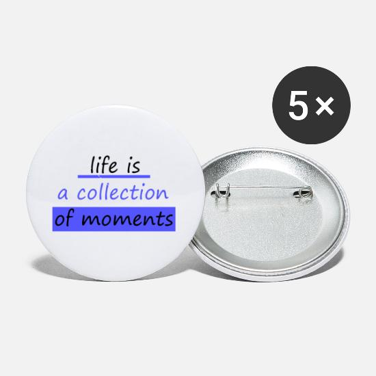 Life Force Buttons - life is - Small Buttons white