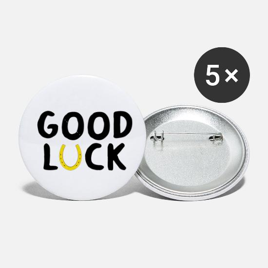 Lucky Buttons - GOOD LUCK - Small Buttons white