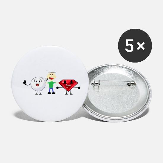 Snowball, me, and Ruby (I am a fan of BFDI!) Buttons small 1'' (5-pack) -  white
