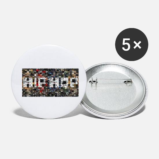 Rap Buttons - HIP HOP COLLAGE - Small Buttons white