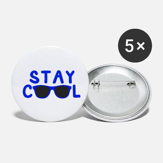 Cool Story Buttons - Stay Cool (Blue) - Small Buttons white