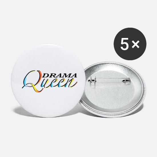 Wife Buttons - DRAMA QUEEN - Small Buttons white