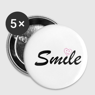 Smile Heart Love Smiley - Small Buttons