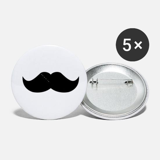 Mustache Buttons - Mustache - Small Buttons white
