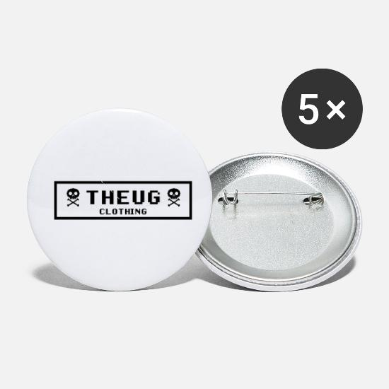 8 Bit Buttons - THEUG LOGO - Small Buttons white