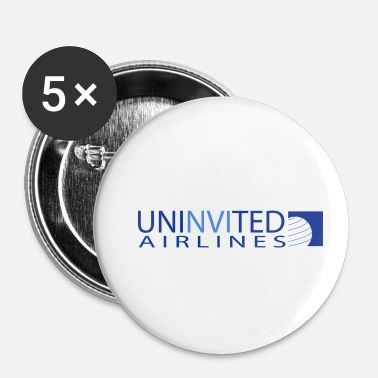 Airline UNINVITED AIRLINES - Small Buttons