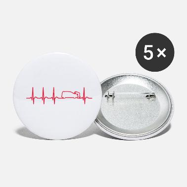 Work On Cars heartbeat car mechanic service station Cool quote - Small Buttons