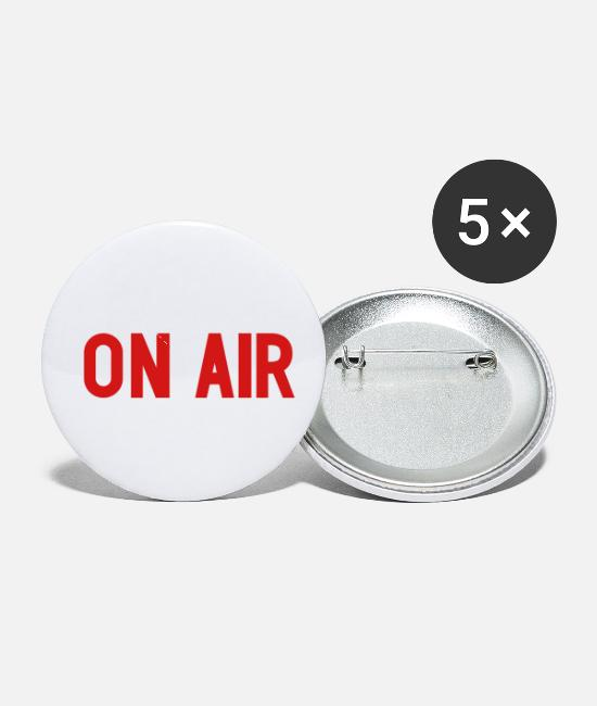 TV Buttons & Pins - On Air - Small Buttons white