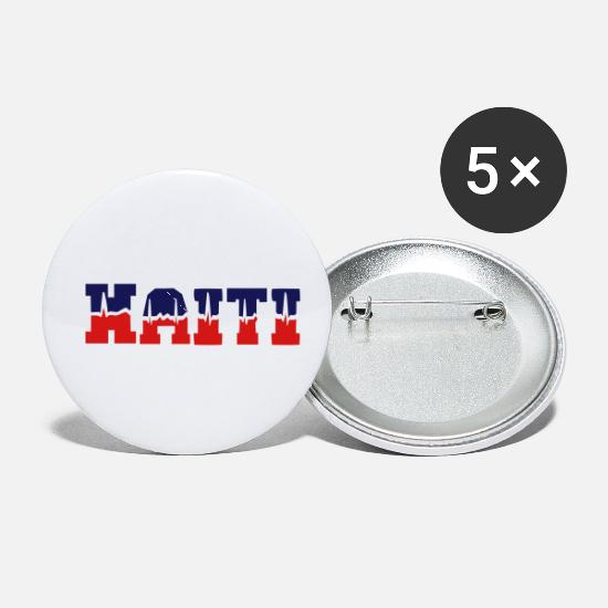 Haiti Buttons - Haiti pulse - Small Buttons white