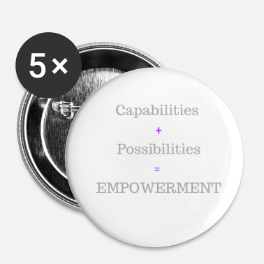 Empowerment CAPABILITIES +POSSIBILITIES=EMPOWERMENT - Small Buttons