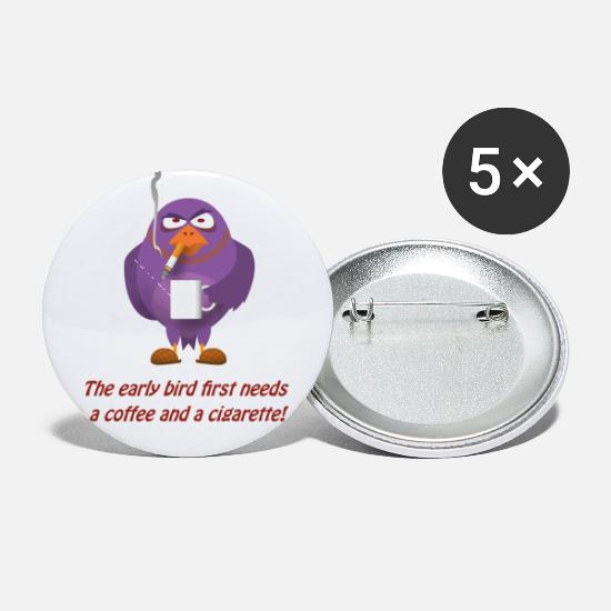 Early Buttons - Early Bird - Small Buttons white