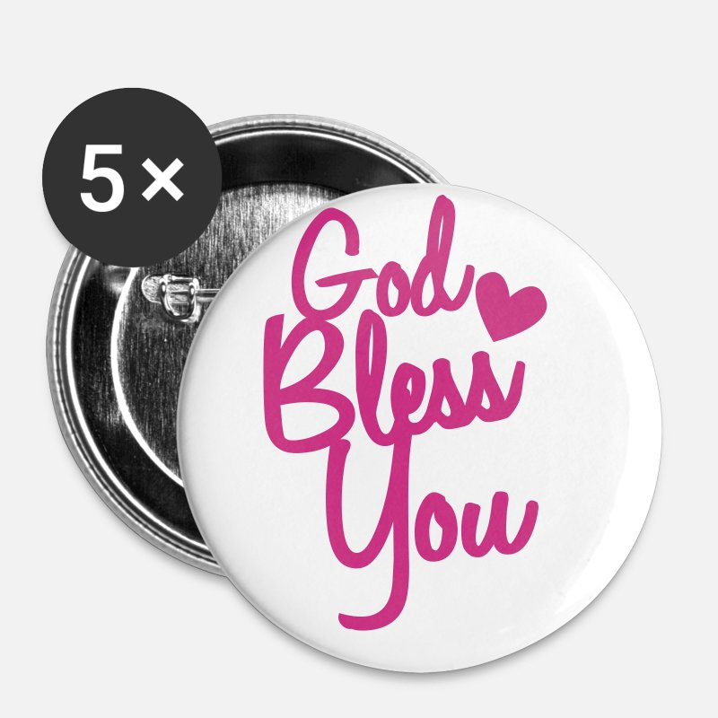 Father Buttons - god bless you - Small Buttons white