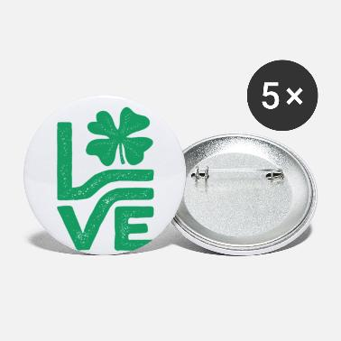 All Saints Day Love Shamrock Saint Patrick's Day - Small Buttons