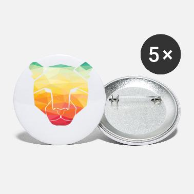 Colorful Geometric Lion Gift Artistic Prismatic - Small Buttons