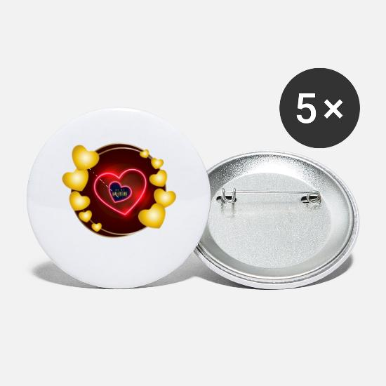 Love Buttons - Be my Valentine | Valentine's Day - Small Buttons white