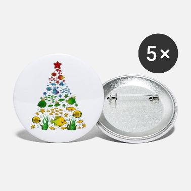 Tradition Fish Lovers Sea Beach Aquatic Christmas Tree - Small Buttons