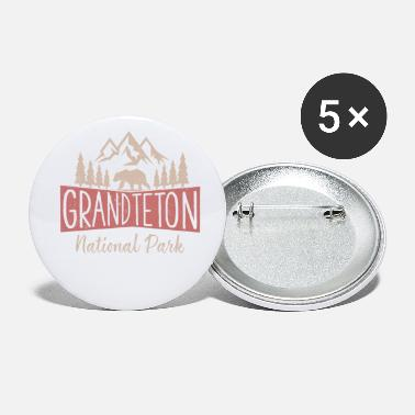 Vintage Grand Teton National Park US Mountains - Small Buttons