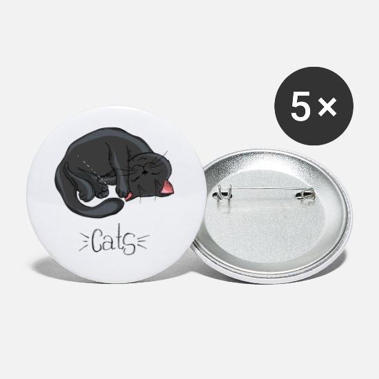 Purr Buttons - Cats - Small Buttons white