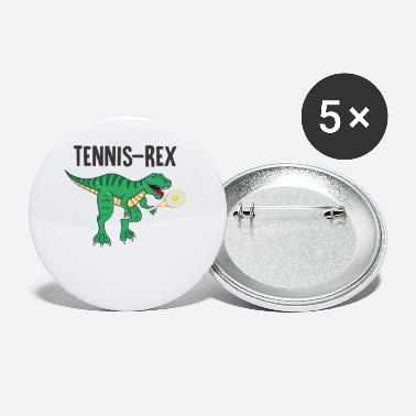 Motto Trex Dino Tennis Rex gift children's birthday - Small Buttons