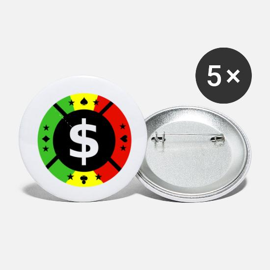Hold'em Buttons - poker chip - Small Buttons white
