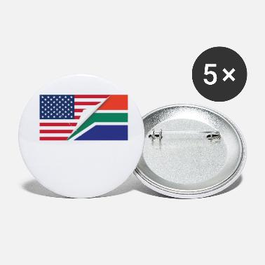 South Africa Half American Half South African Flag - Small Buttons