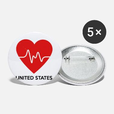 United States Of America Heart United States of America - Small Buttons