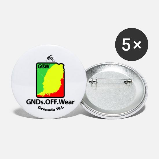 Love Buttons - Grenadians Official Wear - Small Buttons white