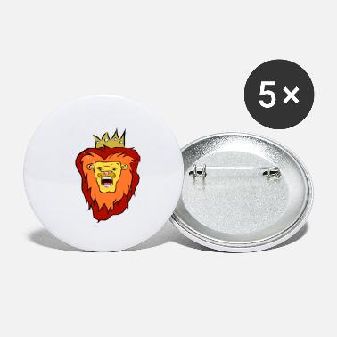 Black And Red Diamond Lion King - Small Buttons