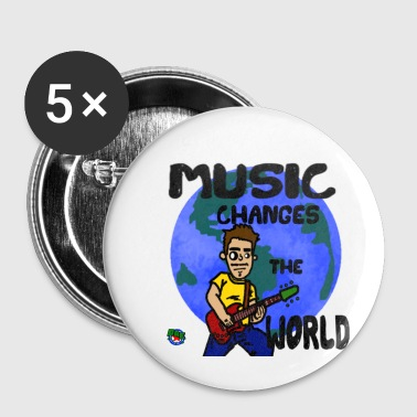 MUSIC CHANGES THE WORLD - Small Buttons