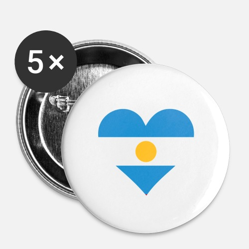 A Heart For Argentina Small Buttons - white